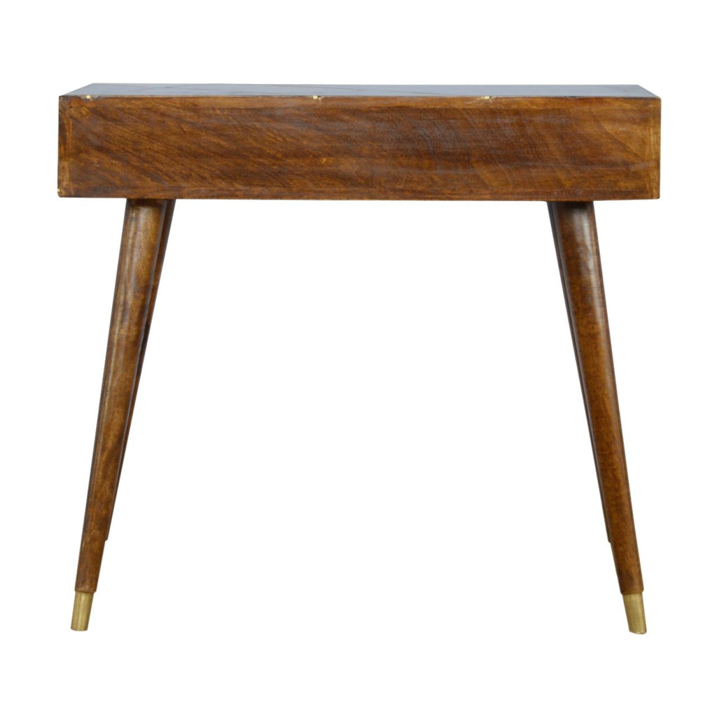 Gold Geometric Chestnut Console Table
