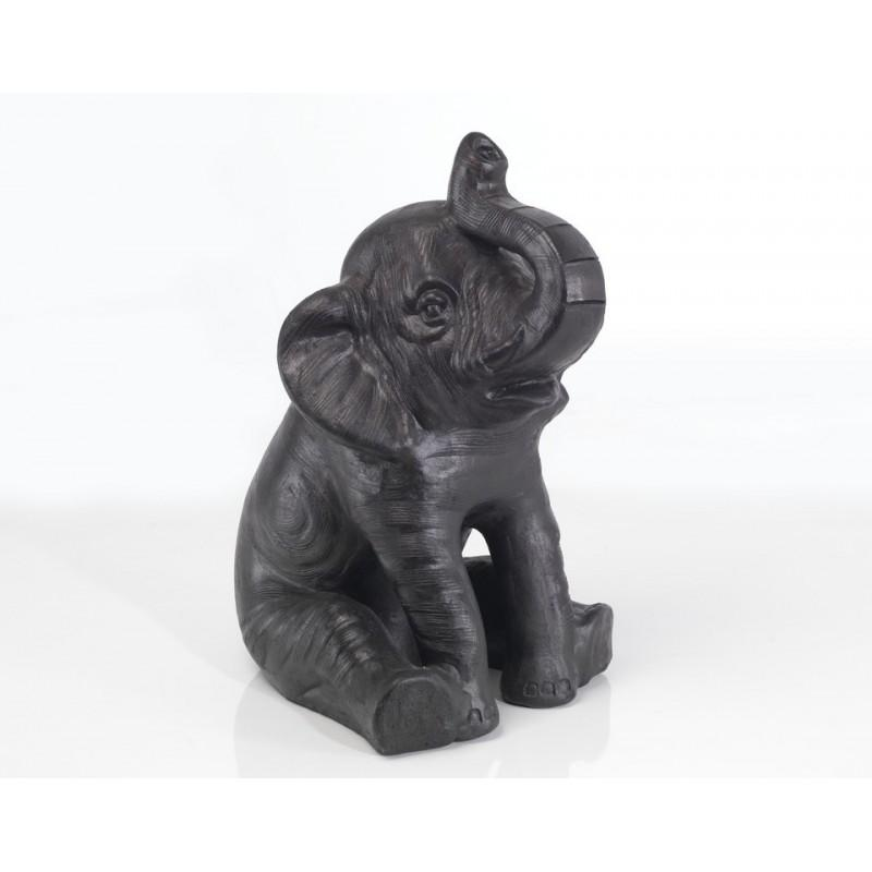 Small Sitting Terracotta Elephant