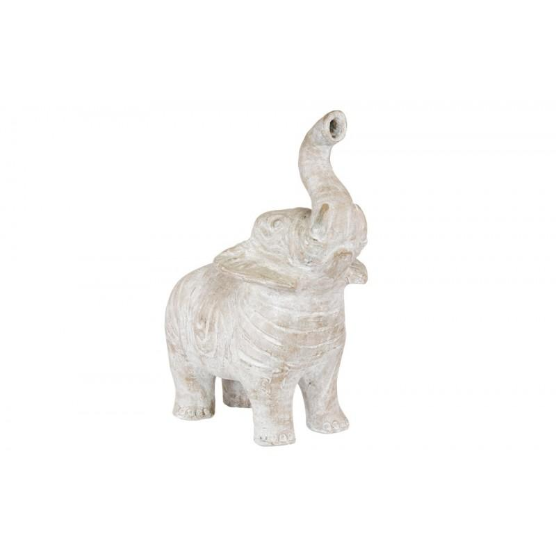 Small Standing Terracotta Elephant