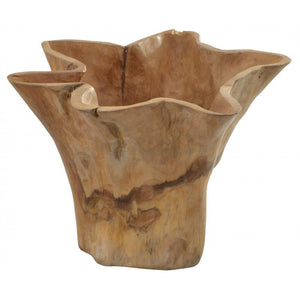 Deziiner Tree Root Teak Wavy Edge Pot
