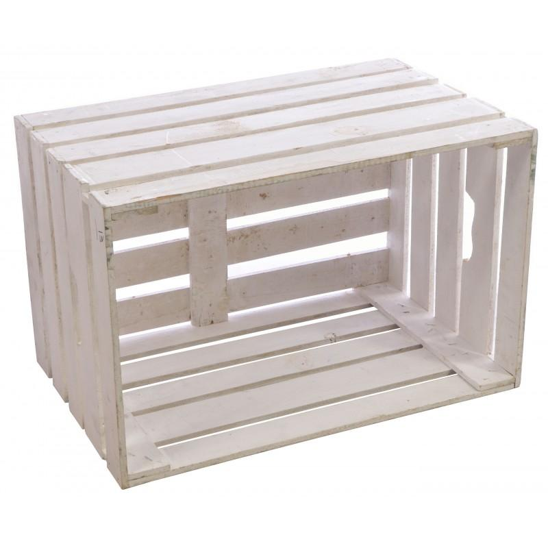 White Painted Wooden Crate