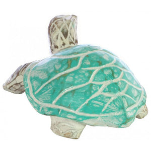 Wooden Turquoise Turtle