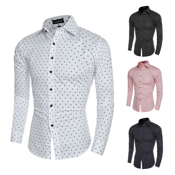 Dotted Slim Fit Men
