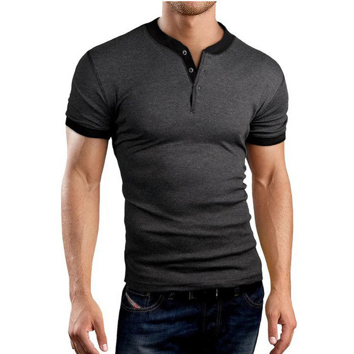 New Henley Style Slim Fit Men