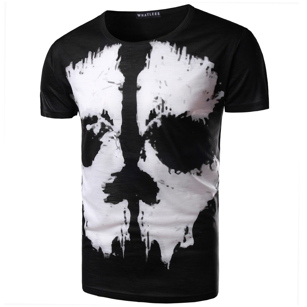 Black and White Face Print Tee