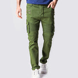 Men's Slim Fit Cotton Pants With Zip Design