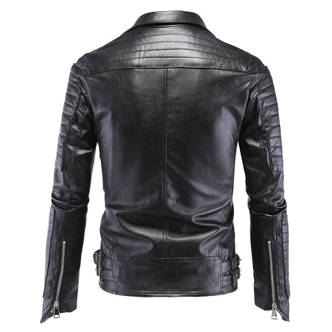 Skull Designer Black Biker Leather Jacket