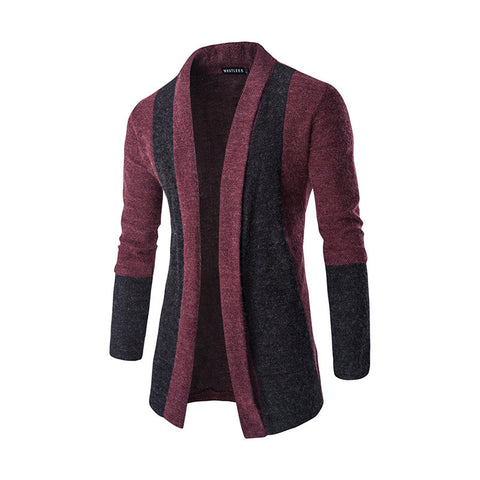 Two Tone Color Designer Men's Cardigan