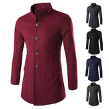 Simple Classic Men's Fashion Wool Coat