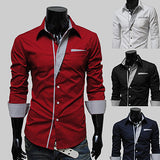 Slim Fit Special Trim Design Dress Shirt