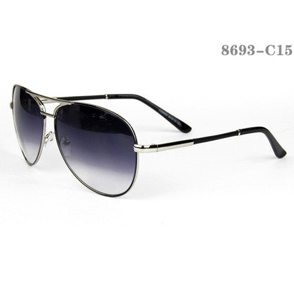 Aviator Style Men Sunglasses #QB-528-C20Black