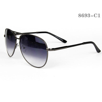 Retro Style Men Sunglasses #8927-C1 Red Lenses