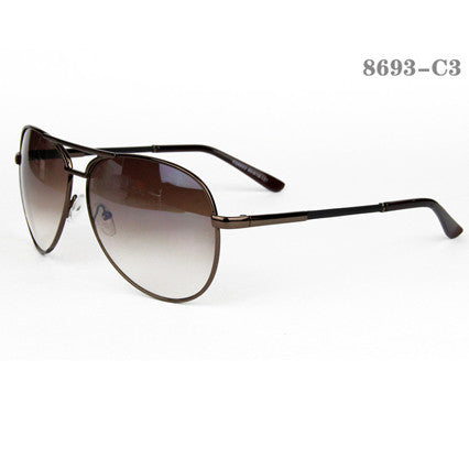 Retro Style Men Sunglasses #8927-C2 Green Lenses