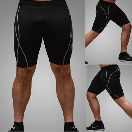 Men Training Fitted Shorts