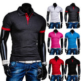 Men's Slim Fit Fashion Short Sleeve Polo Tee