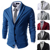 New Shawl Collar Design Men's Fashion Cardigan