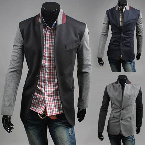 Color Contrast Sleeve New Design Men's Blazer Jacket