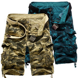 Army Camouflage Pattern Cargo Shorts