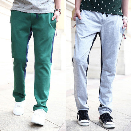 Casual Color Contrast Sweat Pants