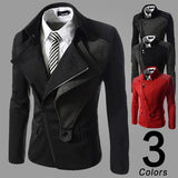 Asymmetric Zip Modern Men Designer Jacket