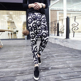 Peace Sign Print Street Style Harem Pants