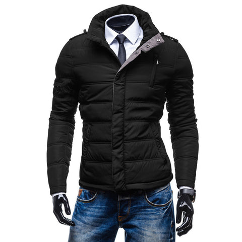 Vintage Men's Modern Design Puffer Jacket