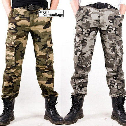 Military Camouflage Design Men Casual Cargo Pants