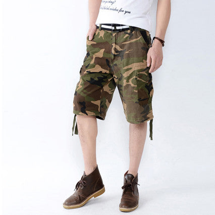Camouflage Casual Cargo Shorts
