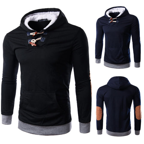 Men's Fashion Hoodie With Toggle Button Design