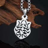Gothic Stainless Steel Shield Pendant Necklace without Chain