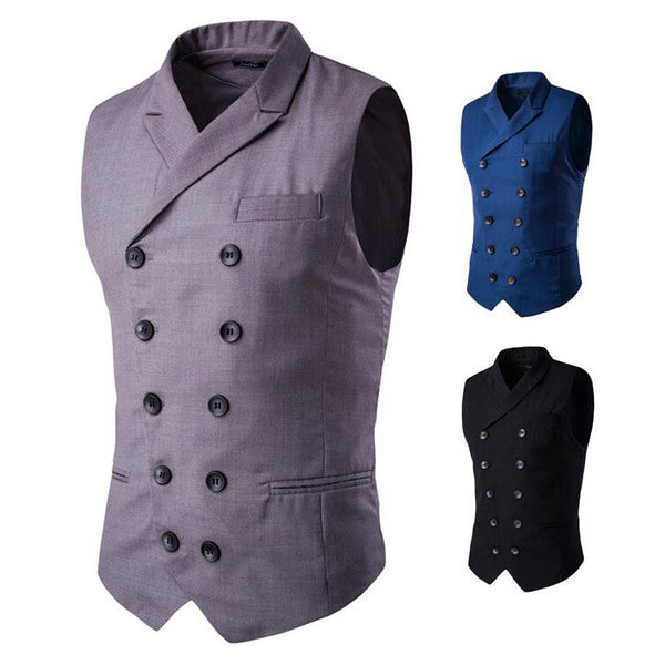 Double Breasted Slim Fit Vest