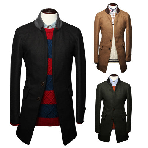 Two Buttons Long Blazer Wool Coat