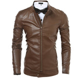 Slim Fit Zip Faux Leather Jacket