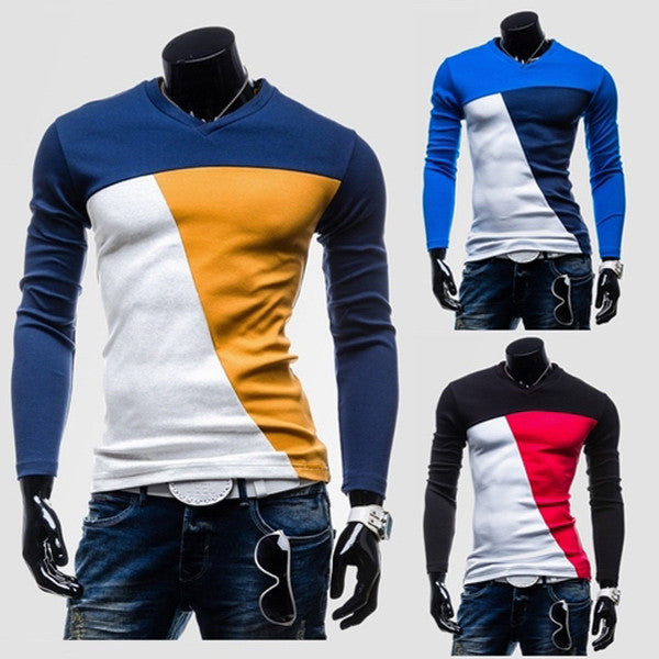 Color Blocked Long Sleeve Tee