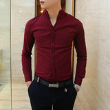 Stand Collar Design Men New Style Shirt SOS