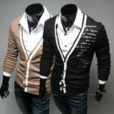 Fashion Quote Print Men Cardigan