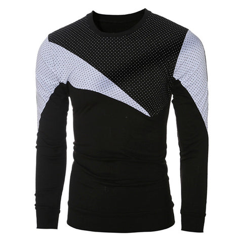 Men's Fashion Dotted Long Sleeve Tee