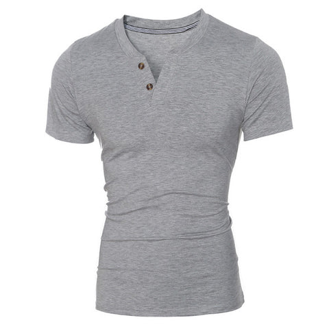 Simple Men's Fashion Henley Tee