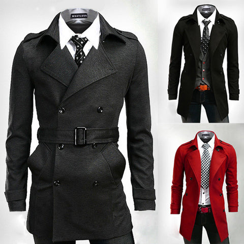 Double Breasted Modern Men's Fashion Coat