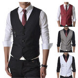 Slim Fit Fashion Style Vest with Zipper Design