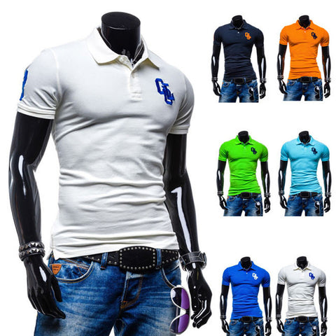 Slim Fit Men's Short Sleeve Polo Tee