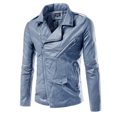 Biker Style Faux Leather Jacket