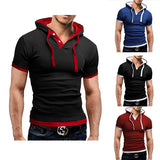Slim Fit Short Sleeve Tee with Hood
