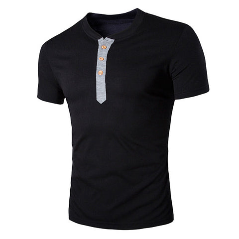 New Style Men's Fashion Henley Tee
