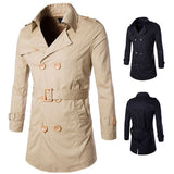 Men's Double Breasted Trench with Belt