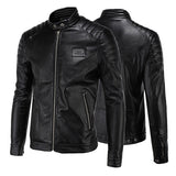 Biker Zip Men's Slim Fit Faux Leather Jacket