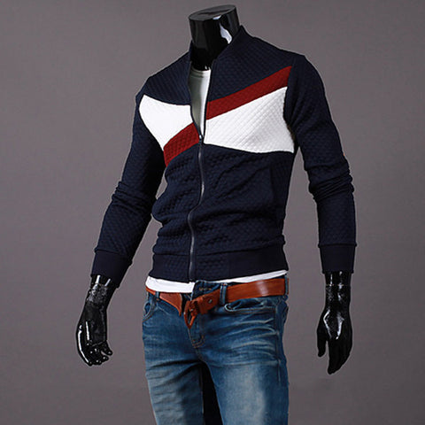 Padding Design Zip Varsity Jacket