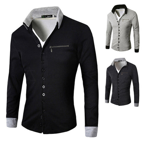 Multi-Buttons Design Men's Fashion Cardigan