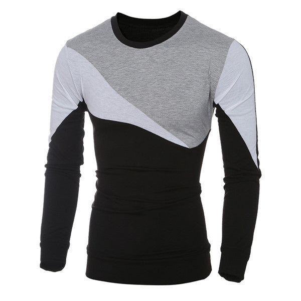 New Color Contrast Slim Fit Long Sleeve Tee