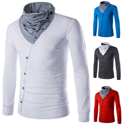 Designer Men's Cowl Neck T-Shirt
